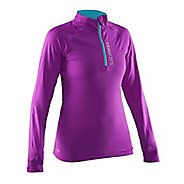 Womens Salming Half-Zip Jackets - Purple M