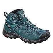 Womens Salomon X Ultra Mid 3 Aero Trail Running Shoe - Blue Green 12