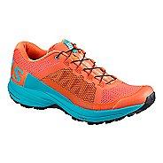 Womens Salomon XA Elevate Trail Running Shoe - Coral/Blue Bird 12