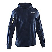 Mens Salming Hexagon Half-Zips & Hoodies Technical Tops - Navy L