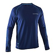 Mens Salming Running Tee Long Sleeve Technical Tops - Yellow M