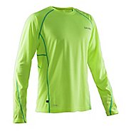 Mens Salming Running Tee Long Sleeve Technical Tops - Yellow L