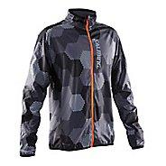 Mens Salming Ultralite 2.0 Running Jackets - Grey/Black Print M