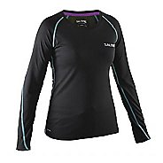 Womens Salming Running Tee Long Sleeve Technical Tops - Black M