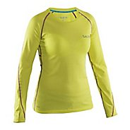 Womens Salming Running Tee Long Sleeve Technical Tops - Lime L