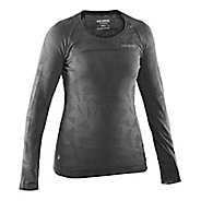 Womens Salming Running Long Sleeve Technical Tops - Dark Grey L