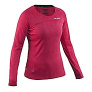 Womens Salming Running Long Sleeve Technical Tops - Bright Rose S