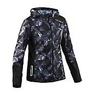 Womens Salming Run Fushion Running Jackets - Black Print L