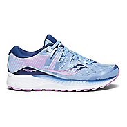 Womens Saucony Ride ISO Running Shoe - Blue/Purple 6.5