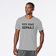 Mens R-Gear Kick Some Asphalt Graphic Tee Short Sleeve Technical Tops - Heather Chrome S