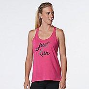 Womens R-Gear Just Run Graphic Sleeveless & Tank Technical Tops - Heather Dynamo Pink M