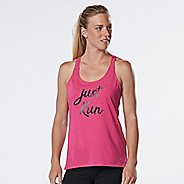 Womens R-Gear Just Run Graphic Sleeveless & Tank Technical Tops - Heather Dynamo Pink S
