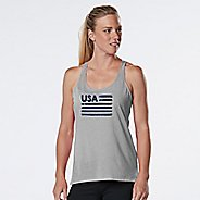 Womens R-Gear USA Graphic Sleeveless & Tank Technical Tops - Heather Chrome L