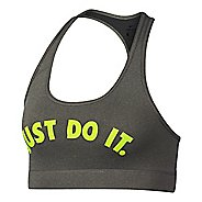 Womens Nike Victory Compression JDI Graphic Bras - Carbon Heather L