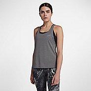 Womens Nike Miler Soft Lux Sleeveless & Tank Technical Tops - Gunsmoke M