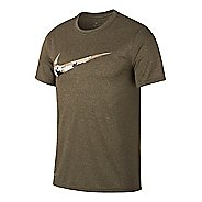Mens Nike Dry Legend Camo Swoosh Tee Short Sleeve Technical Tops
