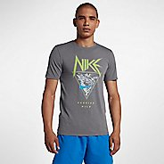 Mens Nike Dry Metal Graphic Tee Short Sleeve Technical Tops