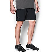 Mens Under Armour Launch SW 2-in-1 Shorts - Black/Black S
