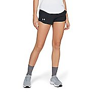 Womens Under Armour Fly By Embossed Mini Lined Shorts