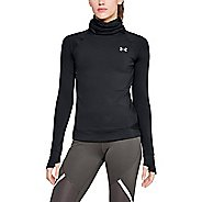Womens Under Armour ColdGear Reactor Run Funnel Half-Zips & Hoodies Technical Tops