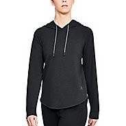 Womens Under Armour Featherweight Oversized Half-Zips & Hoodies Technical Tops - Black S