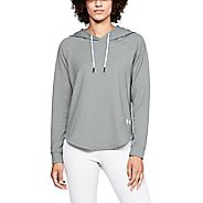 Womens Under Armour Featherweight Oversized Half-Zips & Hoodies Technical Tops