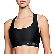 Womens Under Armour Mid Crossback Bras - Black L