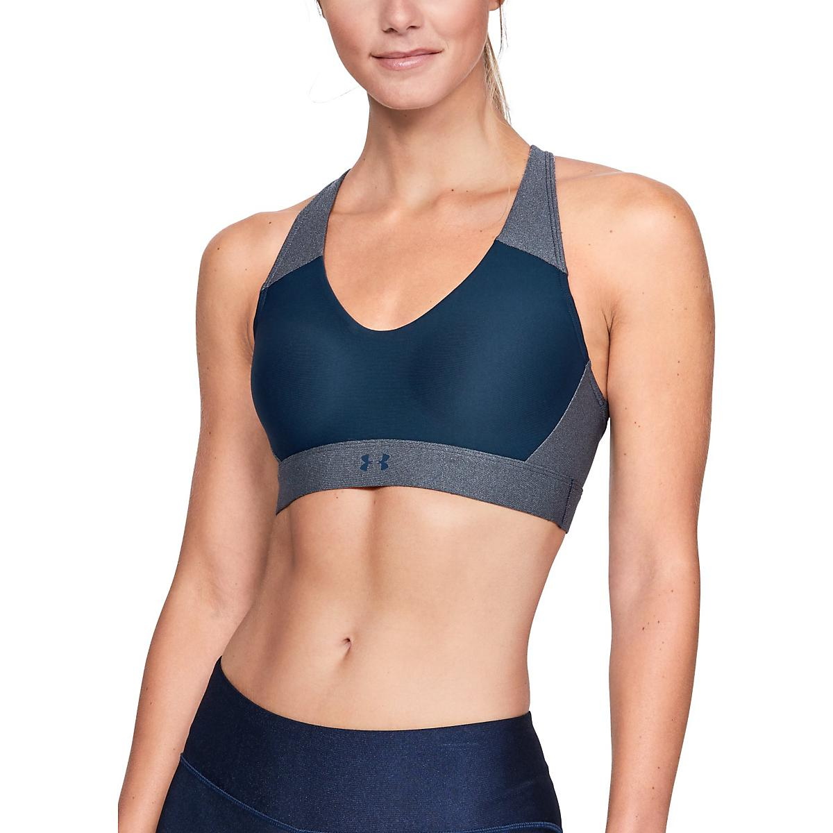 9f59d1f627 Womens Under Armour Vanish Mid Metallic Bras at Road Runner Sports