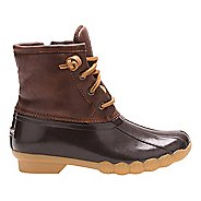 Girls Sperry Saltwater Boot Casual Shoe - Brown 11C