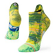 Womens Stance RUN 5K No Show Tab Socks - Lime S