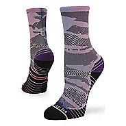 Womens Stance RUN Compass Crew Socks - Purple M