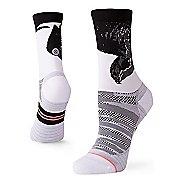 Womens Stance RUN Lauren Fleshman Bird Crew Socks - White S