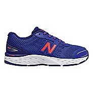 Kids New Balance 680v5 Lace Up Running Shoe - Pacific/Dynamite 11C