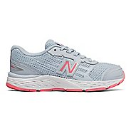 Kids New Balance 680v5 Lace Up Running Shoe - Air/Guava 6.5Y