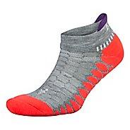 Balega Silver Performance Runner Socks - Grey/Coral M