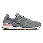Womens New Balance 696 Casual Shoe - Steel/Pink 6.5