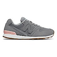 Womens New Balance 696 Casual Shoe - Steel/Pink 8