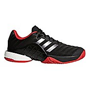 Mens adidas Barricade 2018 Boost Court Shoe - Black/Scarlet 10