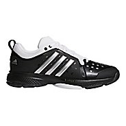 Mens adidas Barricade Classic Bounce Court Shoe - Black/Silver/White 7.5
