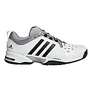 Mens adidas Barricade Classic Bounce Court Shoe - White/Black/Grey 7