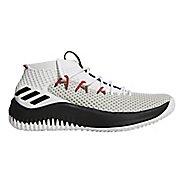 Mens adidas Dame 4 Court Shoe - White/Black/Scarlet 15
