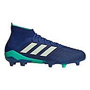 Mens adidas Predator 18.1 Firm Ground Cleated Shoe - Ink/Green/Blue 11.5