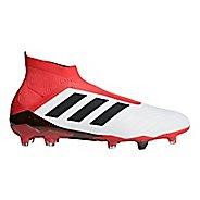 Mens adidas Predator 18+ Firm Ground Cleated Shoe - White/Black 10.5
