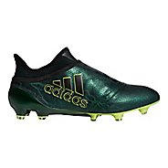 Mens adidas X 17+ Purespeed Firm Ground Cleated Shoe - Black/Black/Electric 9