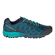 Mens Merrell Agility Synthesis Flex Trail Running Shoe - Navy/Teal 9.5