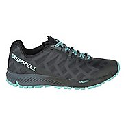 Womens Merrell Agility Synthesis Flex Trail Running Shoe - Black/Light Blue 7.5
