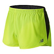Mens New Balance Accelerate 3 inch Split Unlined Shorts - Yellow Hi Lite S