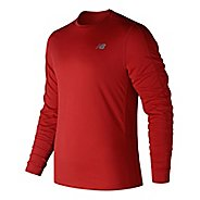 Mens New Balance Accelerate Shirt Long Sleeve Technical Tops - Red M