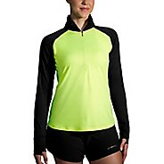 Womens Brooks Dash Nightlife Half-Zips & Hoodies Technical Tops