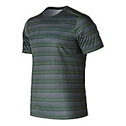 Mens New Balance Anticipate Shirt Short Sleeve Technical Tops - Maldives Blue S